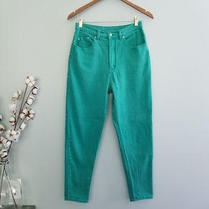 {Vintage} Green Straight Leg Pants Size 12